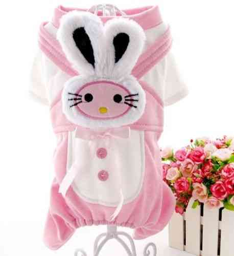combinaison lapin rose taille M