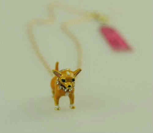 collier chihuahua chainette dorée